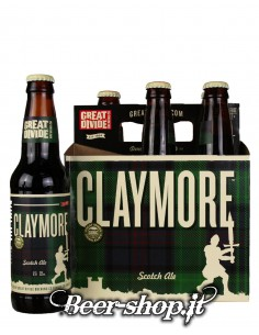 Cestino 6* Great Divide Claymore Scotch Ale 35,5cl