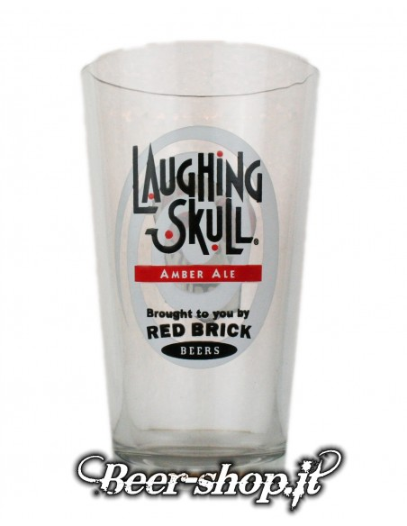 Bicchiere Red Brick Laughing Skull Pinta